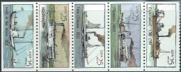 US  1989   Sc#2409a   25c Steamboats Strip Of 5  MNH** - United States