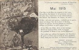Carte Postale Militaria André Soriac Mai 1915    253 - Guerre 1914-18