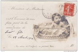 50) Roncey.- (Manche)  Carte Photo: Faire Part De Naissance Leur Fils Auguste Degrenne  - (correspondance à Lire) - France