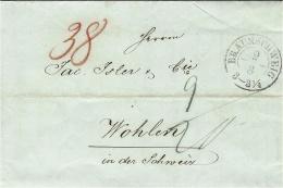 1847- Letter From BRAUNSCHWEIG - Double Rating To Wohlen - ...-1849 Vorphilatelie