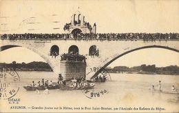 Avignon - Grandes Joutes Sur Le Rhône, Sous Le Pont Saint-Benezet, Par L'Amicale Des Enfants Du Rhône - Carte Idéale - Autres