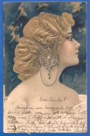 Fantaisie; Frau; Künstlerkarte; Prägekarte; Gaufrée; Relief; 1907 Stempel Zajzon Zizin - Künstlerkarten