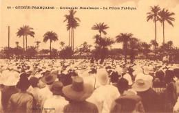 """06333 """"GUINÉE FRANÇAISE - CÉRÉMONIE MUSULMANE - LA PRIÈRE PUBLIQUE"""" ANIMATA. CART. ILL. ORIG. NON SPEDITA - Guinea Francese"""