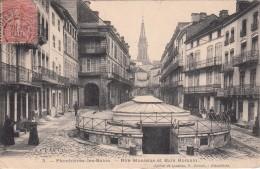 G , Cp , 88 , PLOMBIÈRES-les-BAINS , Rue Stanislas Et Bain Romain - Plombieres Les Bains