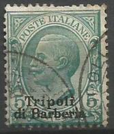 Tripolitania - 1909 Victor Emmanuel III Overprint 5c Used  Sc 4 - Tripolitania