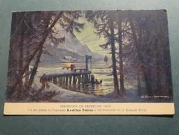 Exposition De Bruxelles 1910 .- Un Des Postes De Fourrures Revillon Frères à L'embouchure De La Koksoak River - Wereldtentoonstellingen