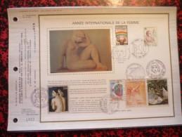 La Femme / Année Internationale De La Femme 1975 Feuillet Grand Luxe Tirage Limité à 100 Exemplaires N°99 - Stamps