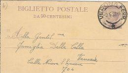 1928 BIGLIETTO POSTALE REGNO MICHETTI 50 C MIL 23 VERONA X VENEZIA - Stamped Stationery