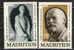 MAURITIUS - 1970 - CENTENARIO DELLA NASCITA DI LENIN - NUOVI MNH - Mauritius (1968-...)