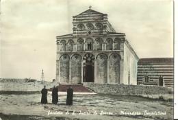 Borutta (Sassari, Sardegna) San Pietro Di Sorres, Monastero Benedettino, Facciata E Sagrato Con Frati Benedettini - Sassari
