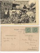 FIJI - PREPARING FOR A FEAST Cartolina/postcard #153 - Cartoline
