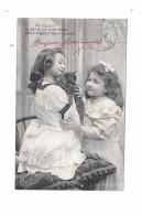 9299 - CPA Petites Filles Et Chat, - Chats
