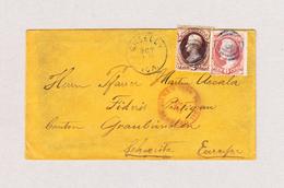 USA 1872 Brief Aus GREELEY , USA Nach Fideris GR Mit 6c Rrot Und 2c Braun über Rand Geklebt - 1847-99 Emissions Générales