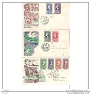 ESSPD1075STV-LFT1527TCFR.Spain,Espagne,Sobres Del 1º Dia. CENTENARIO DEL SELLO ESPAÑOL 1950(Ed 1075/82) - Familias Reales