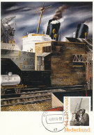 D25791 CARTE MAXIMUM CARD 2009 NETHERLANDS - HARBOUR ROTTERDAM CRANES CP ORIGINAL - Architecture
