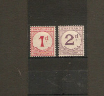 SWAZILAND 1933 POSTAGE DUE SET SG D1/D2 MOUNTED MINT Cat £7.25 - Swaziland (...-1967)