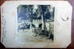 CGUERRE DE 1914 / 1918 PHOTO  ORIGINALE INEDITE  NON CENSUREE DEUX SCANS ARMEE AMERICAINE CHEVAUX A L'ABREUVOIR - Krieg, Militär