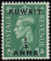 """KUWAIT - Scott #72 King George VI  """"Surcharged"""" / Mint NH Stamp - Great Britain (former Colonies & Protectorates)"""