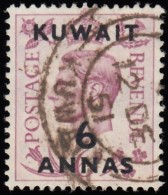"""KUWAIT - Scott #78 King George VI  """"Surcharged"""" / Used Stamp - Great Britain (former Colonies & Protectorates)"""