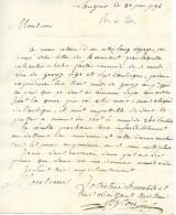 20 Juin 1792 - LANGRES (52) - Commande De VIN De GEVREY (1791) Et D'AUBIGUI - 130 L Le Muid De 240 Bouteilles - Documents Historiques