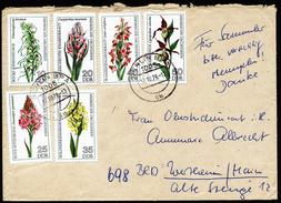 A4245) DDR Brief Mit Satz Orchideen Mi.2135-2140 Von Berlin 12.10.76 - Orchidées