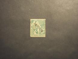 REUNION - 1881 ALLEGORIA 5 C. - TIMBRATO/USED