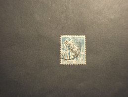 REUNION - 1881 ALLEGORIA 15 C. - TIMBRATO/USED