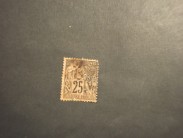 REUNION - 1881 ALLEGORIA 25 C. - TIMBRATO/USED