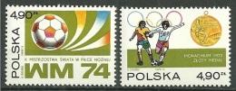 POLONIA 1974 - FOOTBALL WORLD CHAMPIONSHIP GERMANY 74 - YVERT Nº 2155-2156 - Copa Mundial