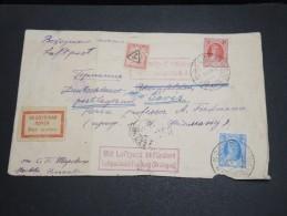 RUSSIE - Enveloppe De Moscou Par Avion Pour La France En 1928, Taxée à L ´ Arrivée - A Voir - L 2986