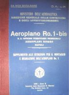 AERONAUTICA Aeroplano Romeo Ro1 Bis 1932 OFM Supplemento CA31 Manual - DOWNLOAD - Aviazione