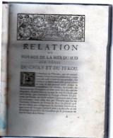 Relation Du Voyage De La Mer Du Sud Aux Côtes Du CHILY  Et Du PEROU  Par A  FREZIER 1732 ,in-4 ,296 Pp - 1701-1800