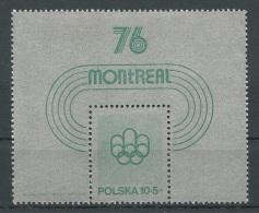 POLONIA 1975 - OLYMPICS MOTREAL 76 - YVERT BLOCK Nº 67 - Verano 1976: Montréal
