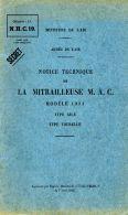 AERONAUTICA AVIATION Mitragliatrice Aerei MAC 7 Mod 34 1936 (fra) NCH19 DVD - DOWNLOAD - Luchtvaart