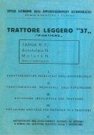 ESERCITO Trattore Leggero SPA TL37 Pontiere 1941 Descrizione Tecnica - DOWNLOAD - Documents