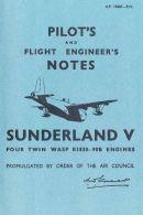 AERONAUTICA AIRCRAFT Short Sunderland V Pilot's Note 1945 (AP1566EPN) - DOWNLOAD - Aviazione