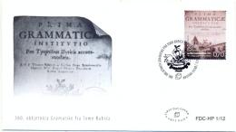 BHHB 2012-335 300A°GRAMATIK FRA TOME BABICH, BOSNA AND HERZEGOWINA-HERZEGBOSNA(C ROAT TEIL), FDC - Langues