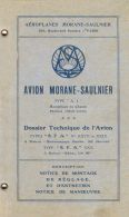 AERONAUTICA AVIATION Morane Saulnier Mod AI 1918 (fra) Manual - DOWNLOAD - Aviation
