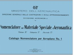 AERONAUTICA AIRCRAFT Aeroplano Romeo Ro1 1928 OFM CN Nomenclatore - DOWNLOAD - Aviation
