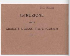 BOMBA MINA AMMUNITION WEAPON  Bomba Mano Tipo Carbone 1916 Manual - DOWNLOAD - Documenti
