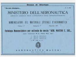 MACCHI C202 FOLGORE 1942 1a A 8a Serie CA669 AIRCRAFT Nomenclatore - DOWNLOAD - Aviazione