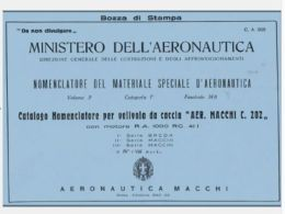 MACCHI C202 FOLGORE 1942 1a A 8a Serie CA669 AIRCRAFT Nomenclatore - DOWNLOAD - Aviation