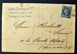 Lettre France - Etoile PLEINE Seule - 1849-1876: Periodo Classico