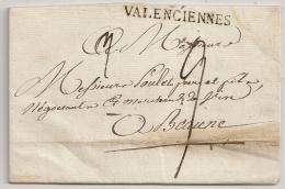 LAC VALENCIENNES Nord Pour Beaune. 1811. - 1801-1848: Précurseurs XIX