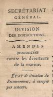 AMENDES CONTRE DESERTEURS DE LA MARINE. 1812. Administration Enregistrement Domaines.  2 FEUILLETS. 5 SCANS. - Gesetze & Erlasse