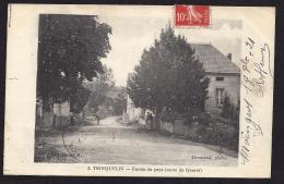 CPA 89 Trinquelin Entrée Du Pays Route De Quarré - France
