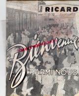 PAUL RICARD -   MARSEILLE- PARIS- BORDEAUX - LIVRET BIENVENUE ANNEE 50 - Biographie