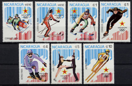 Nicaragua, 1984, Olympic Winter Games Sarajevo, MNH, Michel 2472-2478 - Nicaragua