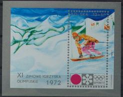 Poland, 1972, Olympic Winter Games Sapporo, Skiing, MNH, Michel Block 49 - Poland