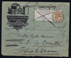 NL: Zwerfbrief Geïllustreerde Envelop 1920 Hattem Wapenveld Beport Geweigerd Ivm Port Retour Zwolle Cert Vleeming 2016 - Period 1891-1948 (Wilhelmina)